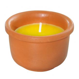 6 candele cotto Basic citronella